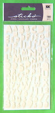 """180pc Baby Pink Alphabet & Numbers Stickers Stickos Small Letters 1/4""""-1/2"""" NIP"""