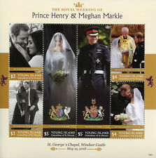 Young Island Gren St Vincent 2019 MNH Prince Harry Meghan 6v M/S Royalty Stamps
