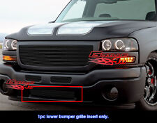 Fit GMC Sierra 2500/ 2003-2006 Sierra 1500/2500HD Black Billet Grille 2003-2004