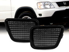 Set of 2 Euro Smoke Front Bumper Side Marker Reflector Light for 97-01 Honda CRV