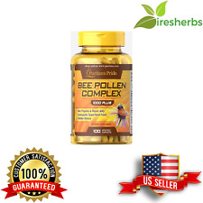 BEE POLLEN COMPLEX 3:1 CONCENTRATE 1000MG BOOST IMMUNE SYSTEM SUPPLEMENT 100 CAP
