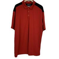 Nike Golf Polo Shirt Mens Sz XXL 2XL Red Black Short Sleeve Fit Dry J10