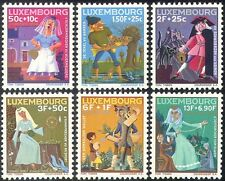 Luxembourg 1966 Fairy Stories/Tales/Cat/Castle/Weaving/Welfare Fund 6v (n42755)