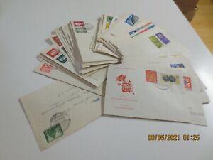 Sammlung DDR Belege Briefe/FDC ca. 1952-1965 insgesamt 68 Stück wie abgebildet