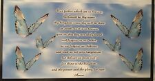 CHECKBOOK COVER WITH THE LORDS PRAYER AND BUTTERFLIES