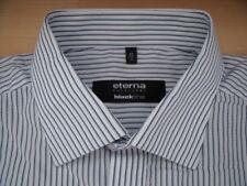 EE640 Eterna BLACKLINE EXCELLENT Hemd 43  Blau Weiß Gestreift Sehr gut