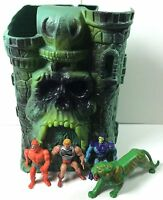 Vintage Castle Grayskull Playset He-Man Masters Of The Universe MOTU W/ Figures
