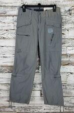G Star Raw Denim Womens Military Flight Art Pant Gray Cargo Size 27 X 32