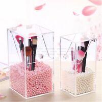 Clear Acrylic Dustproof Makeup Holder Case Brush Cosmetic Organizer Storage Box