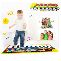 Kids Touch Play Learn Singing Piano Keyboard Music Carpet Mat Blanket Gift Toy