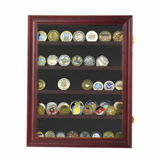 Military Challenge Coin Medal Display Case Cabinet Casino Chip Frame Shadow Box
