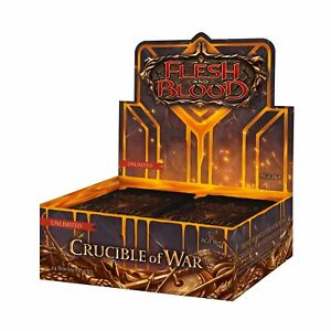 Flesh And Blood TCG CRUCIBLE OF WAR UNLIMITED SEALED BOOSTER BOX - PRE ORDER