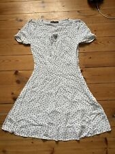 M&s Marks And Spencer Collection White Heart Dress Size 6 Petite