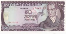 UNC 1984 Colombia 50 Pesos Oro Note, Pick 425a.