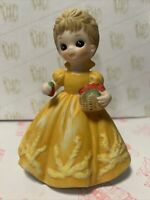 Vtg Josef Originals George Good Big Eyed Girl Figurine Orig Stickers