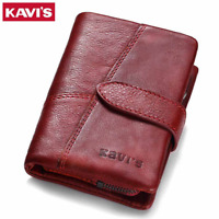 Women Genuine Leather Cowhide Bifold Wallet Credit Card ID Holder Coin Purse New