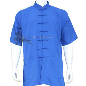Summer Kung fu Tai chi Jacket Wing Chun Martial arts Top Wushu taiji Clothes