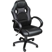 Poltrona sedia ufficio girevole per casa studio sportiva racing nero  nuovo