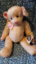"GANZ - Cottage Collectibles -- Mary Holstad -- 14"" Rose Pig"