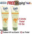 Внешний вид - 2 PK's TOMS OF MAINE Baby Moisturize Lotion Fragrance Free 6 oz ea Pediatrician
