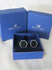 Swarovski #1111580 Black Onyx Cufflinks Brand Nib Mens Jewelry Rare Free Shippin