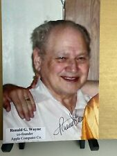 Ronald Wayne Signed Autograph 4x6 Photo Co Founder Apple Computers Rare