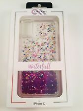 Case-Mate Waterfall Glitter Case for iPhone X and Xs PURPLE Glow in the Dark