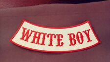 Support 81 Hells Angels MC Side Rocker Patch.  White Boy