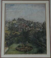 Precioso 19th Century antigua casa ciudad en Surrey Acuarela
