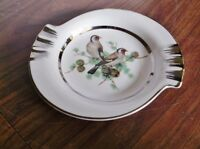 Vintage NORLEANS Porcelain Dish / Ashtray with Platinum Trim