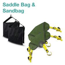 2 Pack Saddlebag Sand Bag Heavy Duty & 2 Pack Stone Bag StandBags Holds 18lbs