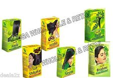100g each Hesh Amla Shikakai Aritha Neem Tulsi Brahmi Hair Kit USA Seller
