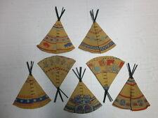 Konvolut 7 alte Indianerzelte für 4cm Merten Kunststoff Wildwest Figuren