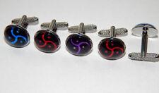 Bdsm cufflinks jewelry, triskele cufflinks triskelion bdsm symbol submissive