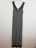 [ WITCHERY ] Womens Knit Striped Maxi Tank Dress RRP$139.95 | Size AU 10 or US 6