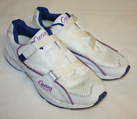 Womens Ladies Curves White Leather Fitness Athletic Sneakers Shoes Size 11M