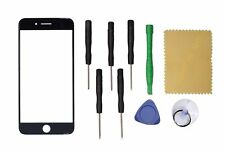 Black Front Outer Screen Glass Panel Lens Replacement For iPhone 8 Plus +Tools