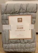 NEW Pottery Barn Teen Ruched EURO Quilted Sham LIGHT GRAY