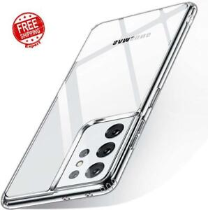 Samsung Galaxy S21 Ultra Case Slim Fit Hard Back And Soft Bumper Silicone Cover
