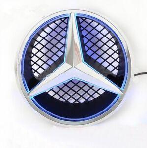 For Mercedes Benz Motor Front Star Grille Emblem Blu-ray LED 06-13 White