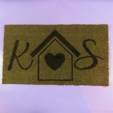 Personalised Engraved Door Mat New House Gift Initials Love Present Home Gift