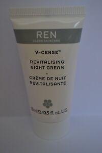 REN Clean Skincare V-Sense Revitalising Night Cream travel size 15ml RRP50ml £34
