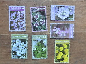 GIBRALTAR 2014 FLOWERS SET 7 MINT STAMPS MNH