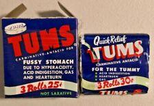 TUMS Vintage 1950s 3 Rolls with Original Box NOS Rare --  2151
