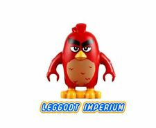 LEGO Minifigure Angry Birds - Red frowning - minifig ang012 FREE POST