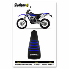 2013-2015 YAMAHA WR 450 F Black/Blue RIBBED SEAT COVER by Enjoy MFG