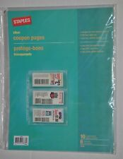 Staples Clear Transparent Archival Quality Coupon Pages, Package of 10, 22093