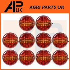 10 X LED Round Rear Combination Brake Tail Indicator Lights Lamp Tractor Trailer