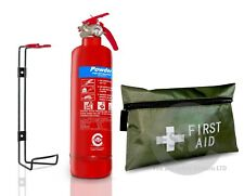 1 KG POWDER FIRE EXTINGUISHER WITH 42 pcs 1ST AID KIT FOR HOMES OFFICE CARS VAN