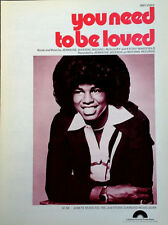 JERMAINE JACKSON - YOU NEED TO BE LOVED - SHEET MUSIC - 1977